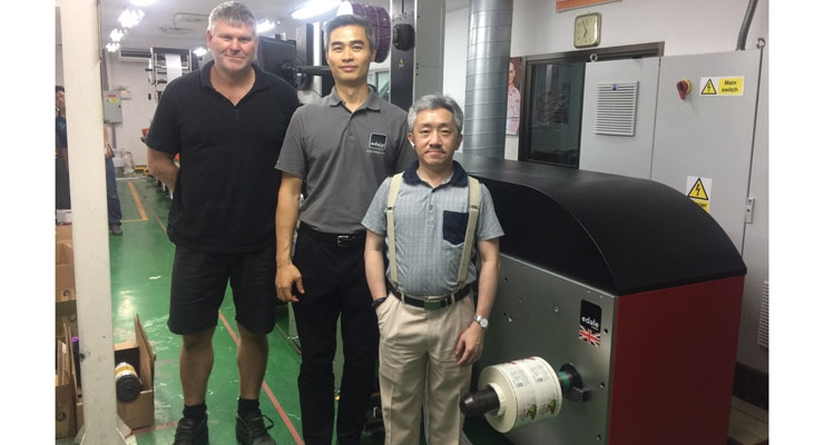 Edale technicians with Thai customer