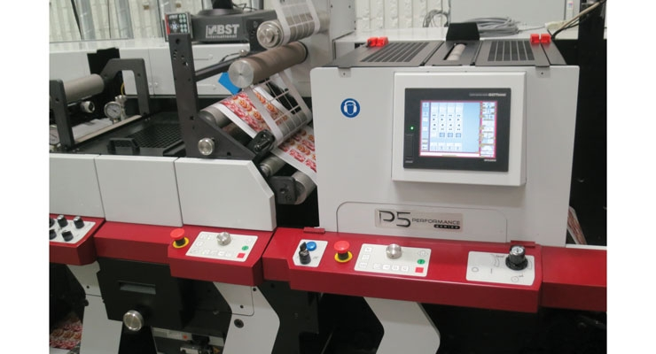 A Mark Andy Performance Series press (seen above) and its Versa Max line of presses are often utilized to print flexible packaging.