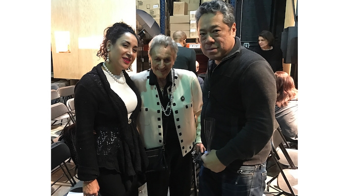 A guest, with Annette Green and Darryl Do