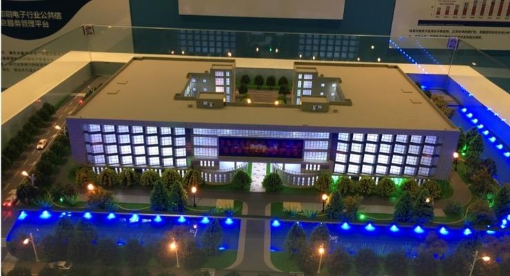 Scale model of IPEI's pilot facility.