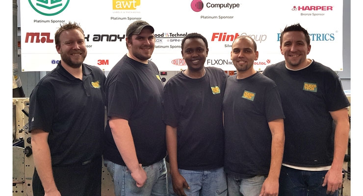 The Future of Flexo: Instructor Shawn Oetjen (far left), with four recent Flexo Tech press operator students.