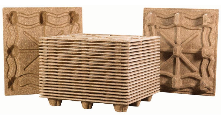 Litco's Inca molded wood pallets are a strong, sustainable alternative.
