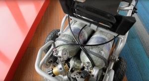 Waterproof Motorized Wheelchair Runs on Compressed Air