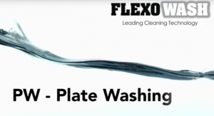 Flexo Wash illustrates plate cleaning process