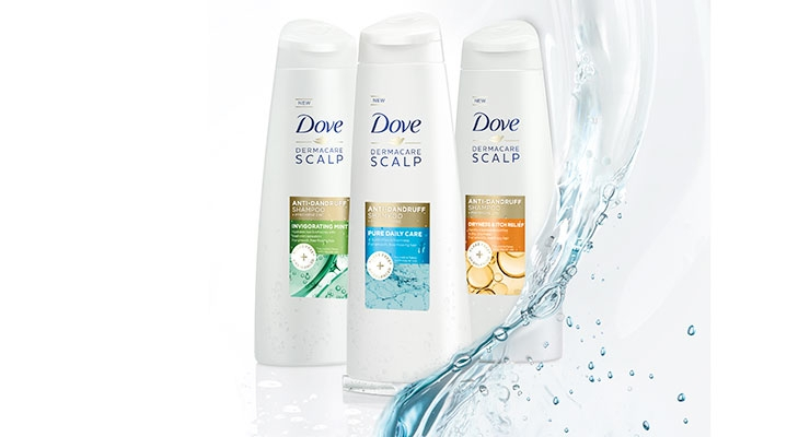 Dove's new DermaCare Scalp shampoos and conditioners help consumers  manage dandruff with  Active Pyrithione Zinc and a blend of oils.