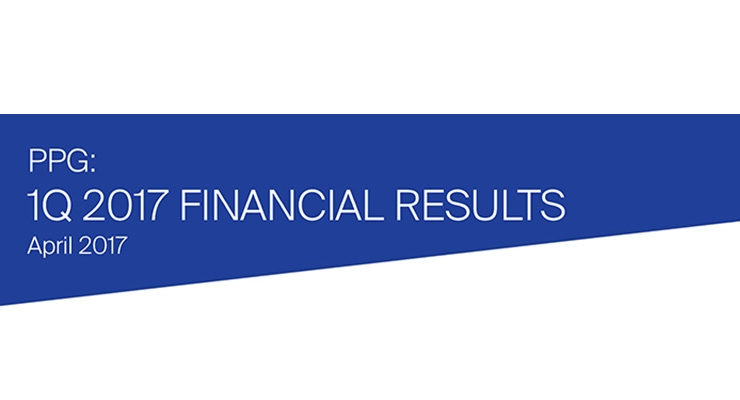 PPG: 1Q 2017 Financial Results