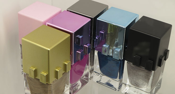 "Creative, ""playful"" nail polish packaging was a hit at Baralan, where new bottles can link together."
