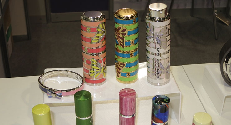 Multi-layered deco took the spotlight at GLP Packaging.