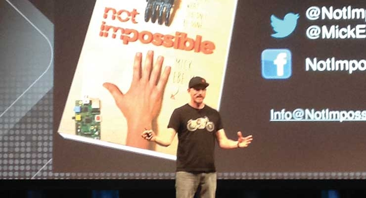 Mitch Ebeling of Not Impossible inspired the audience to never give up when doing what's right.