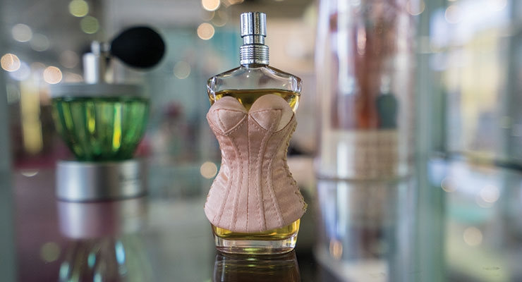 One of the many fragrance bottles that will be on display at suppliers' stands.