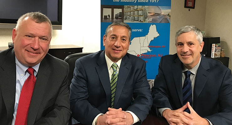 From left, CEO Darren Jachts and co-presidents Alan Newfield and Michael Smith are the three leaders at JNS-SmithChem.