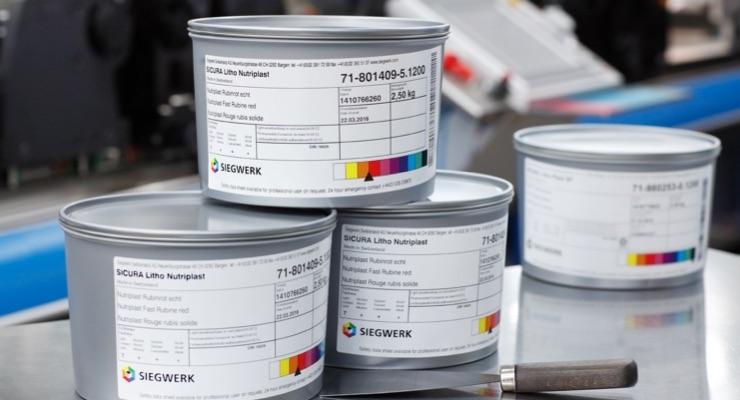 SICURA Litho Nutriplast ink series (Photo courtesy of Siegwerk Druckfarben AG & Co. KGaA)
