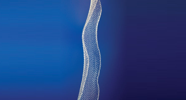 Figure 2: Mesh created exclusively from TissueGen's ELUTE fiber. Image courtesy of TissueGen.