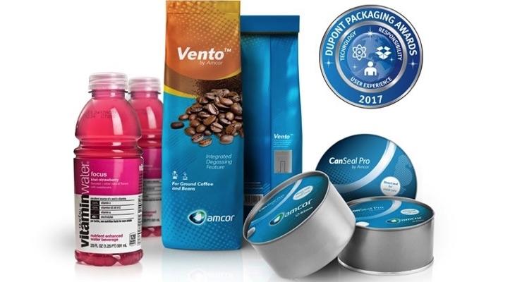 Amcor Secures Three Awards at DuPont Packaging Awards 2017