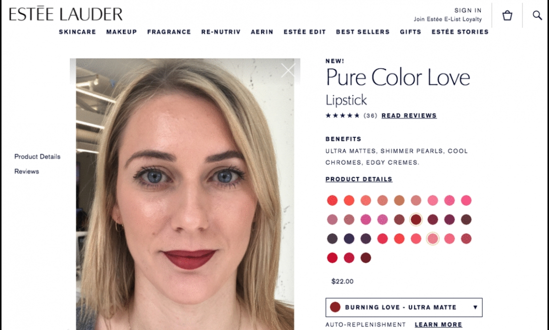 Estée Lauder Adds Augmented Reality To Web and Mobile