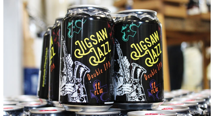Fort Hill Brewery's Jigsaw Jazz Double IPA features a PS label from Dion Label.