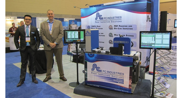 PC Industries demonstrated its latest print inspection technologies.