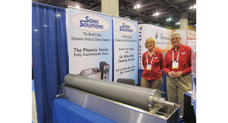 Ultrasonic anilox cleaning with Marie and Joe Walczak of Sonic Solutions.