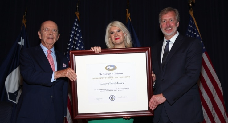 Cosmoprof NA Receives Presidential Award