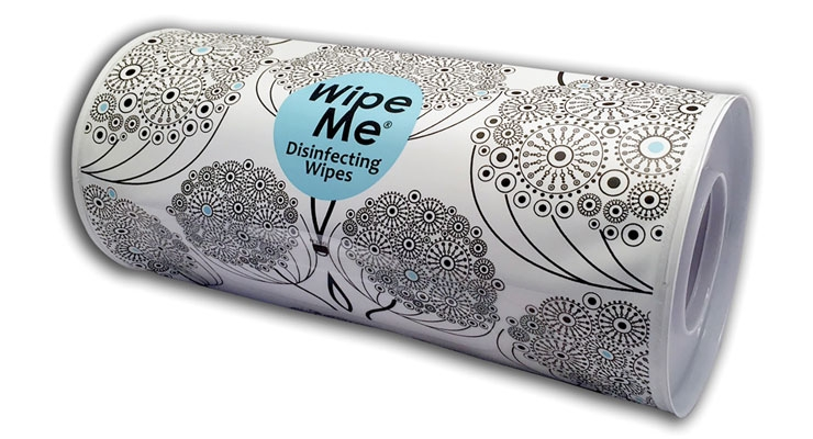 WipeMeWorld, the company that invented wet toilet tissue on a roll, is rolling out paper-towel sized wet wipes on a roll for household use.