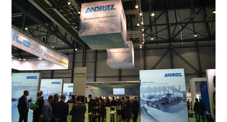 Andritz showcased solutions for spunlace, calendering and wetlaid nonwovens at INDEX 2017.
