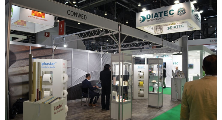 Conwed exhibited with parent company SWM and sister company DelStar.
