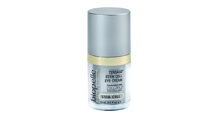 Biopelle's Tensage Stem Cell Eye Cream, in an airless bottle