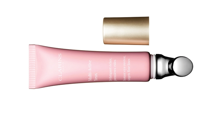 Cosmogen provided Clarins with a unique tube-applicator combination package for its Multi-Active Yeux eye cream.
