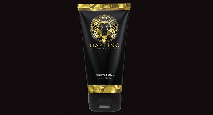 Viva IML Tubes recently produced this 163ml tube for Martino By Martino Cartier's Volume Serum hair product, which features an elegant, holographic 3D effect.