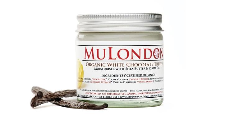 MuLondon's original moisturizer jars and lids.