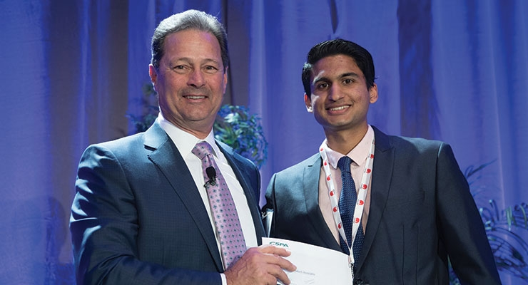 Chairman Bill Auriemma and Murray Glauberman Scholarship Award winner Rohan Chaudhri Thakur.