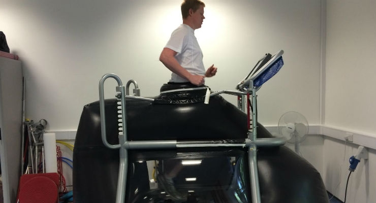 This is an anti-gravity treadmill. Image courtesy of Karen Hambly.