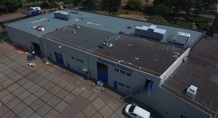 SPGPrints' new digital ink production facility under construction at the company's headquarters in Boxmeer, The Netherlands.