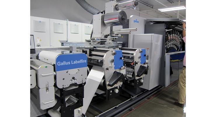 A closer look at the Gallus Labelfire DCS 340 digital/flexo hybrid press.