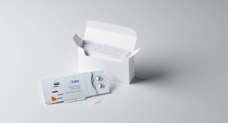 Faller specializes in the production of secondary packaging, such as compliance packs, for the pharmaceutical and healthcare industry.