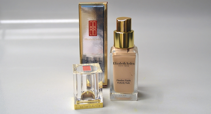 Lombardi created this elegant Surlyn resin cap-collar assembly exclusively for  Elizabeth Arden's Flawless Finish liquid foundations.