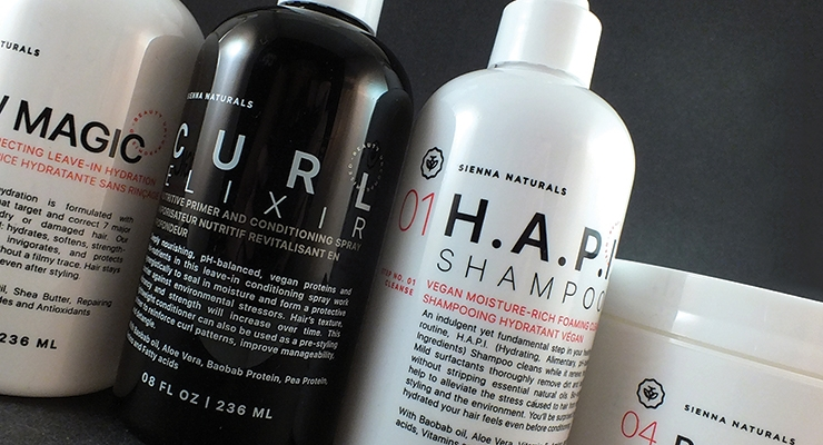 Sienna Naturals Hair Care rebranded its product line  with stock packaging from Kaufman Container Co.