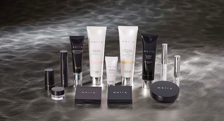 WWP transformed standard stock offerings into extraordinary  designs with metallized accents for Mally Beauty.