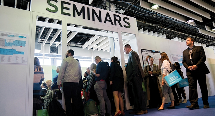 Many sessions overflowed with visitors.