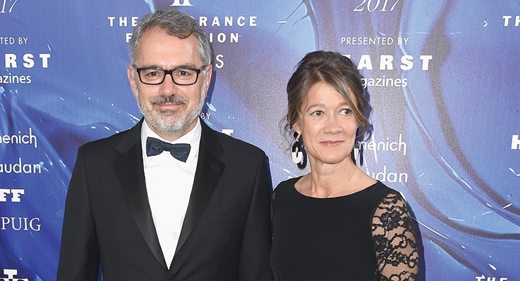 The Fragrance Foundation Awards – Marc Puig with his wife