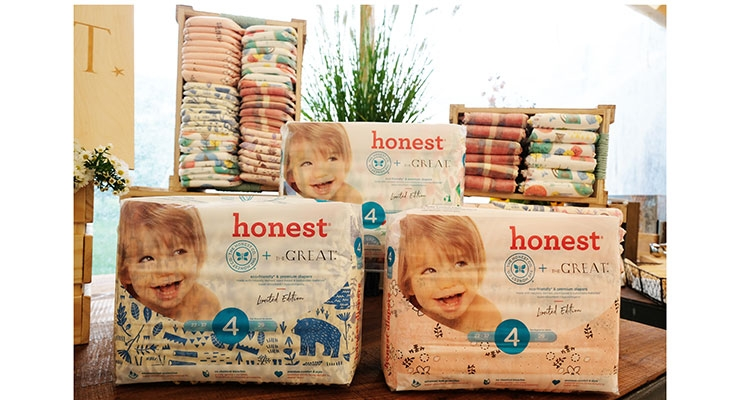 Honest Collaborates with The Great in Diaper Design
