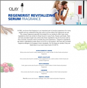 P&G To Disclose Fragrance Ingredients Across Entire Portfolio
