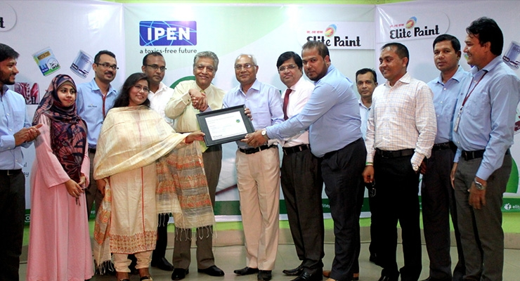 Elite Paint Receives First Lead Safe Paint® Certification in Bangladesh