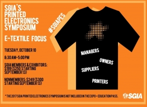 Printed Electronics Symposium: E-Textiles, Wearable Technology and More