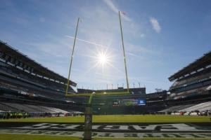 Axalta Coats Field Goal Posts for Philadelphia Eagles