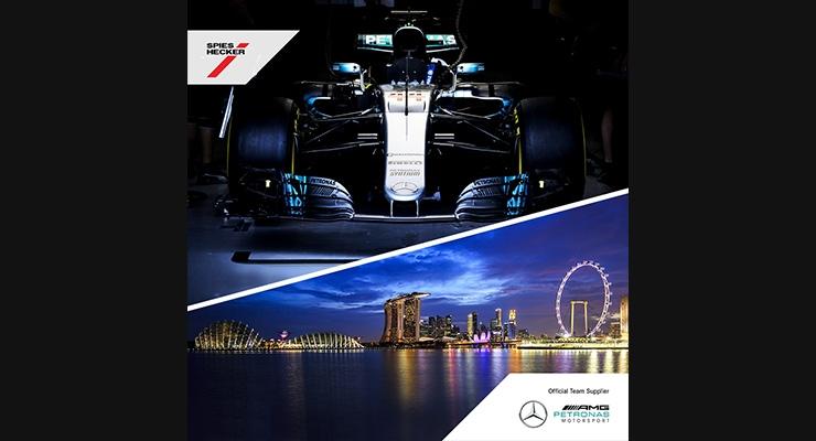 Axalta, Mercedes-AMG Petronas Motorsport Celebrate Win at Singapore Grand Prix