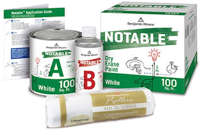 Benjamin Moore Introduces Notable Dry Erase Paint