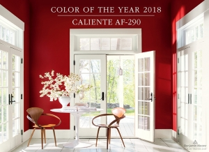 Benjamin Moore Names Caliente AF-290 as its Color of the Year