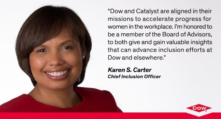 Dow Chief Inclusion Officer Karen S. Carter Named to Catalyst Board of Advisors
