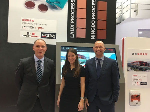 Lanxess Showcases Iron Oxide Pigments at CHINACOAT